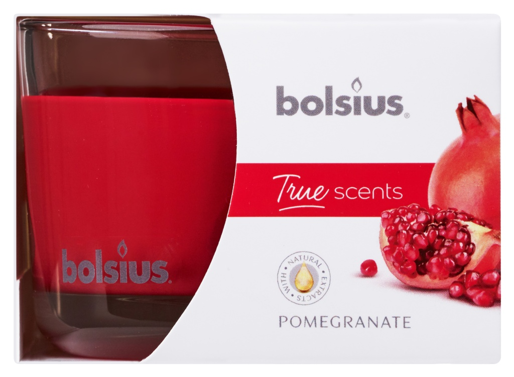 Bolsius Fragranced Candle In A Glass - Pomegranate