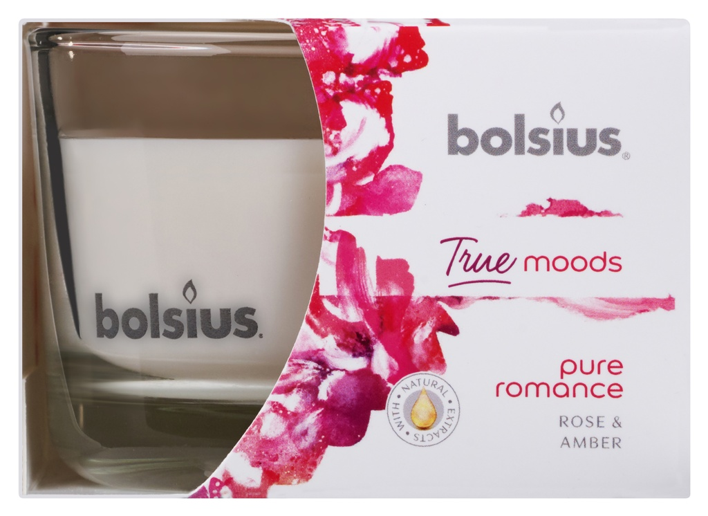 Bolsius Fragranced Candle In A Glass - Pure Romance 63/90