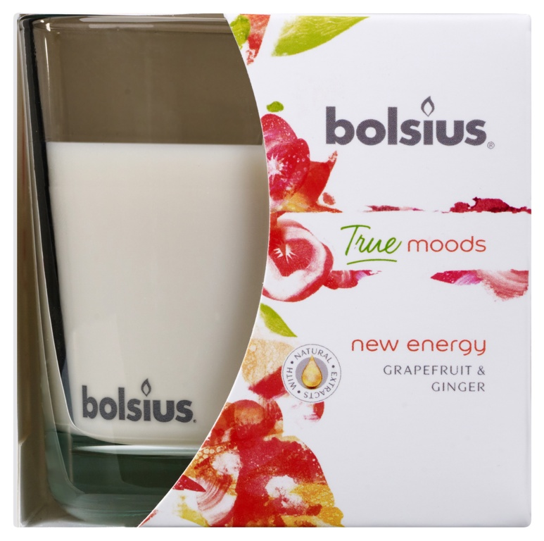Bolsius Fragranced Candle In A Glass - New Energy Grapefruit & Ginger