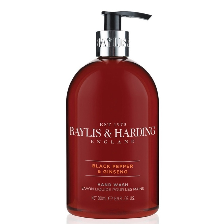 Baylis Harding Mens Black Pepper & Ginseng Hand Wash - 500ml