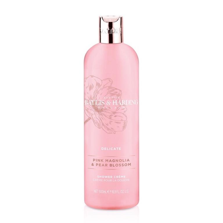 Baylis & Harding Moisturising Shower Crème 500ml - Pink Magnolia & Pear Blossom Moisturising