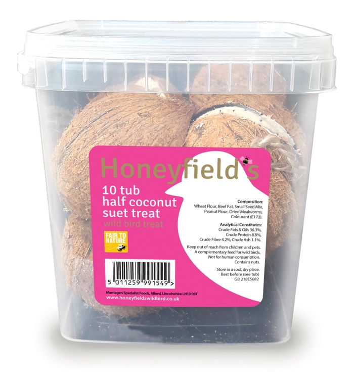 Honeyfield's Half Coconut Suet Treats - 10 Pack