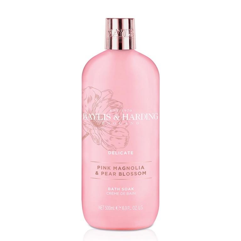 Baylis & Harding Moisturising Bath Soak 500ml - Pink Magnolia & Pear Blossom