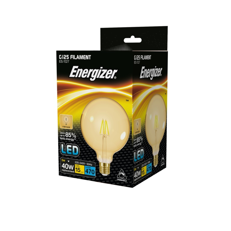 Energizer Filament LED G125 E27 Dimmable - Gold 5.5w