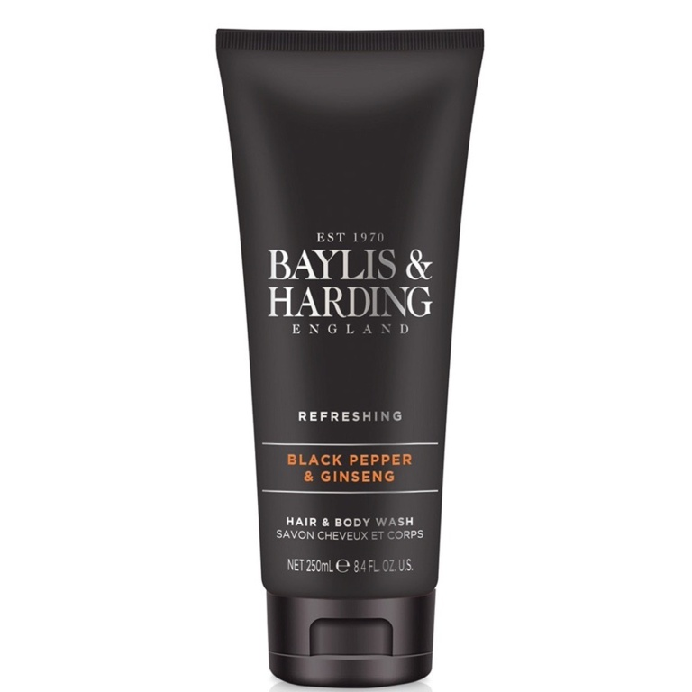 Baylis Harding Hair And Body Wash 250ml - Black Pepper & Ginseng
