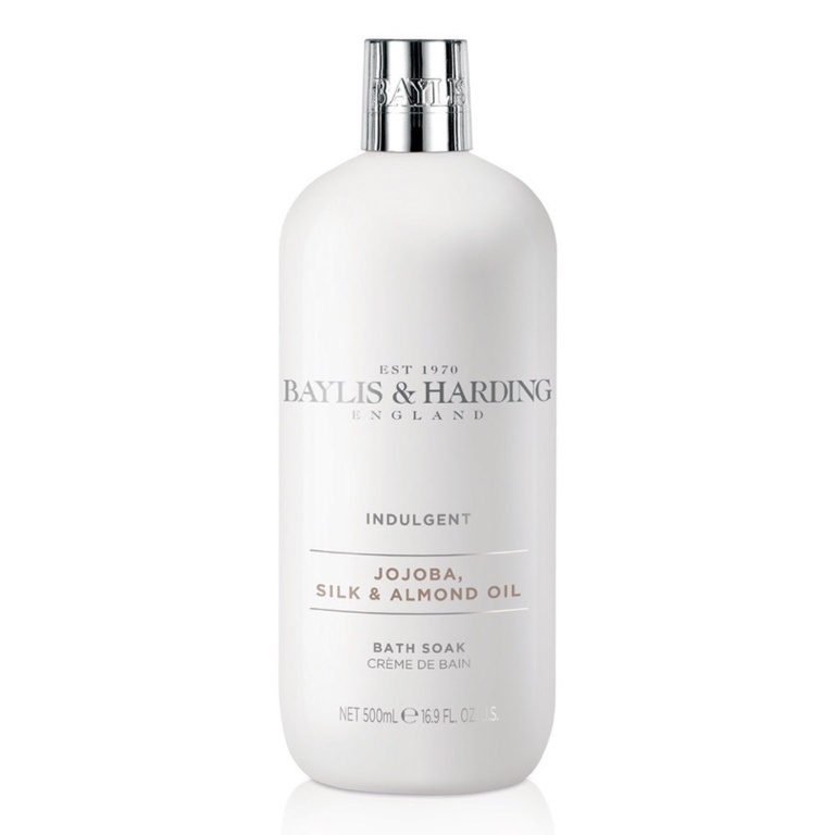 Baylis & Harding Moisturising Bath Soak 500ml - Silk & Almond Oil