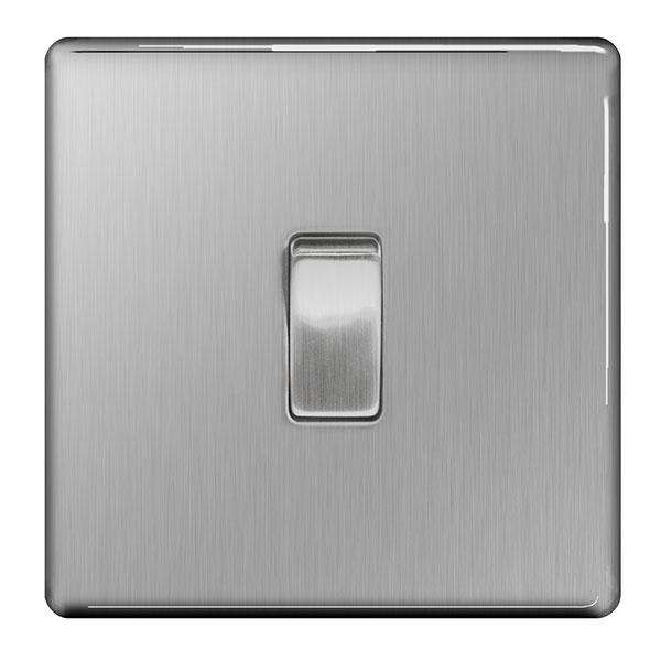 BG Light Switch 10ax Plate 1 Switch - 2way