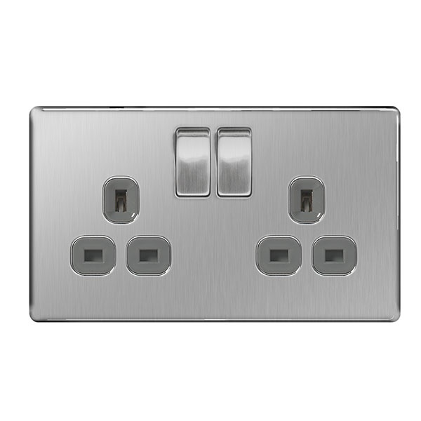 BG Switched Socket 2 Socket Double Pole - 13a