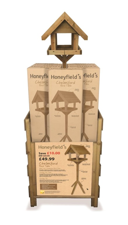Honeyfield's Chelmsford Bird Table Display Units - x 10