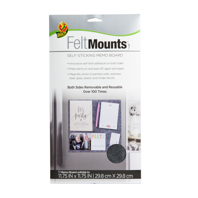 Duck Felt Mount Memo Board 29.8x29.8cm - Grey