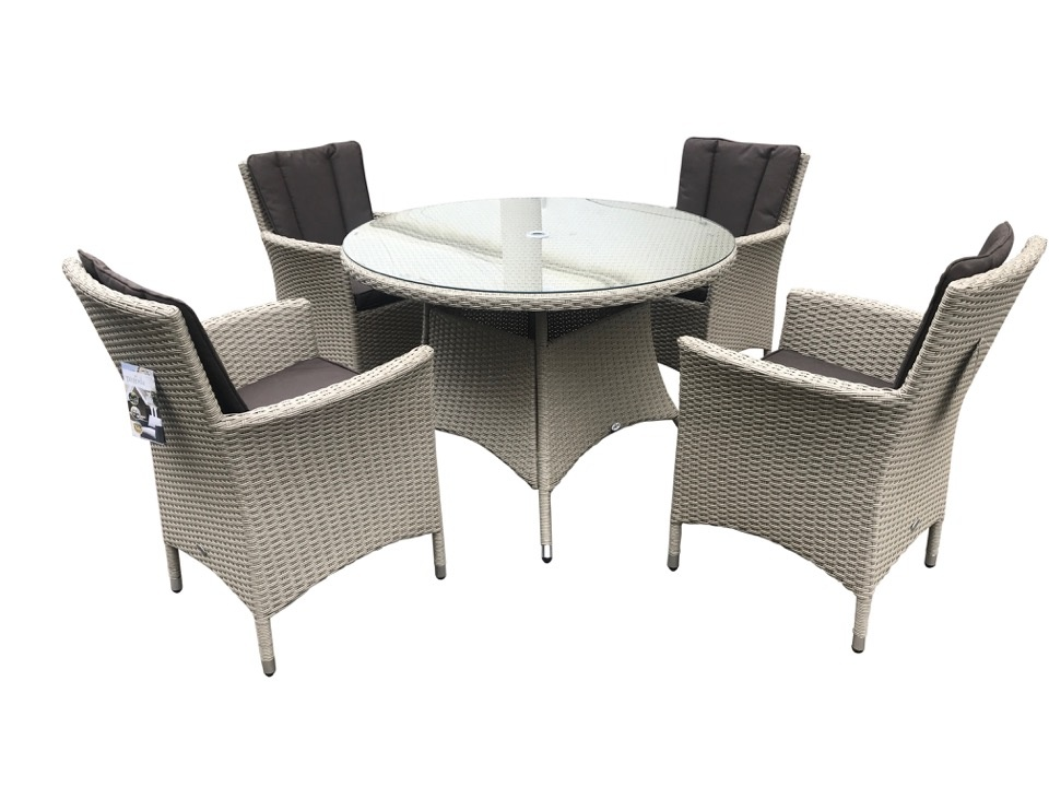 Pagoda Portofino Rattan 4 Cushion Seat Set