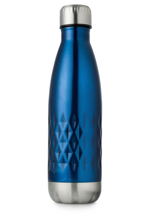 Casa & Casa Diamond Stainless Steel Vacuum Water Bottle - Blue 500ml
