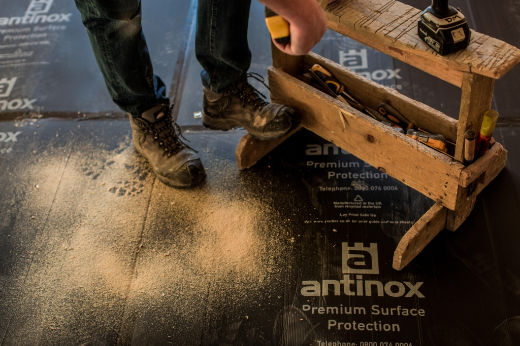 Antinox® Recycled Protection Boards - 1.0m x 1.2m Black