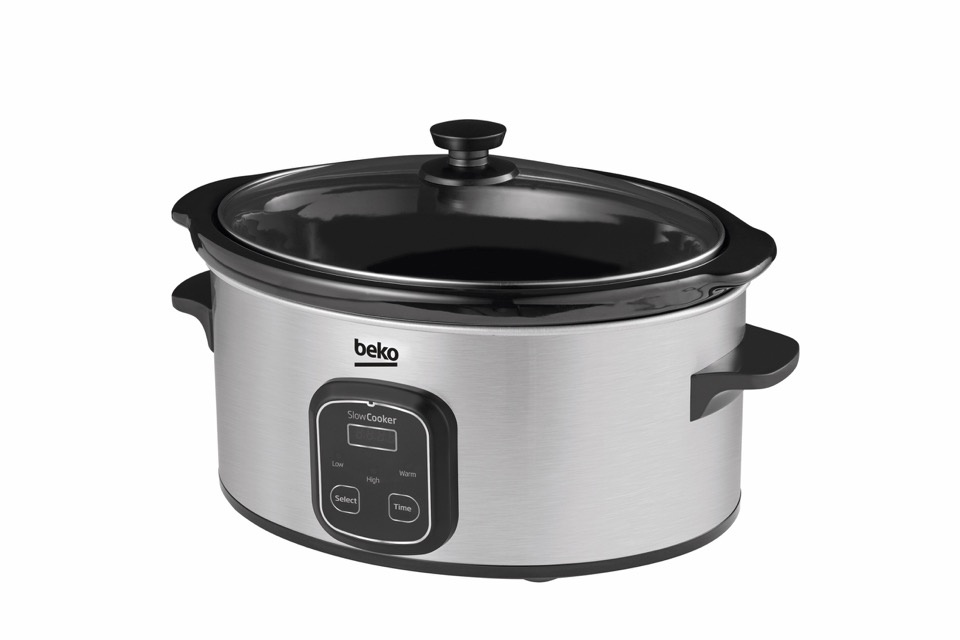 Beko Stainless Steel Slow Cooker - 6L