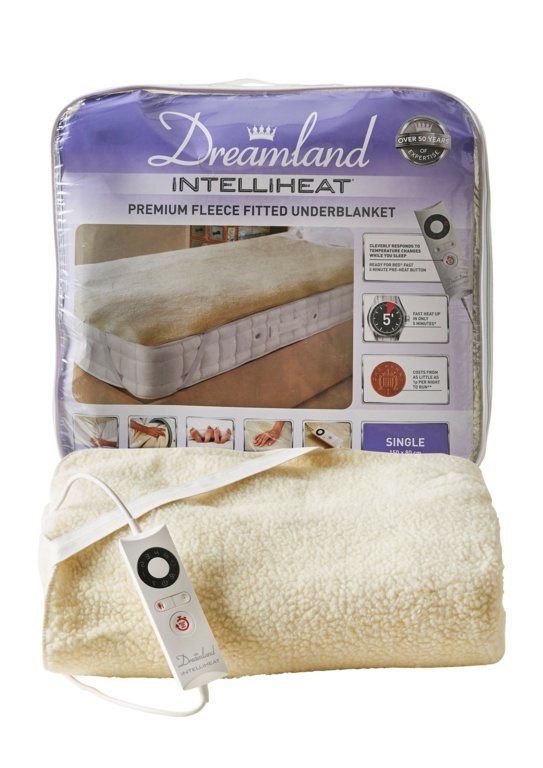 Dreamland Intelliheat Soft Fitted Fleece - Single