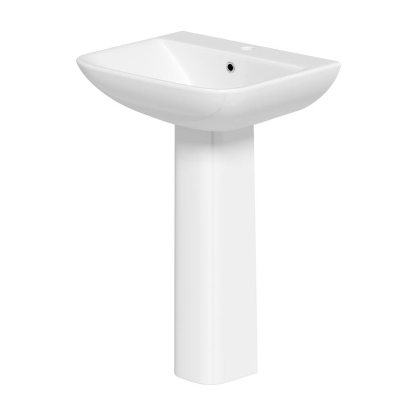 SP Space Saver Basin & Pedestal In A Box - W: 550mm H: 855mm D: 445mm