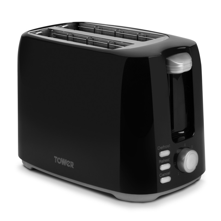 Tower Elements 2 Slice Toaster - 750w Black