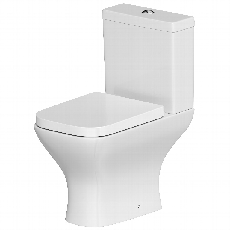 SP Space Saver Close Coupled Pan, Cistern & Seat In A Box - W: 365mm H: 780mm D: 610mm