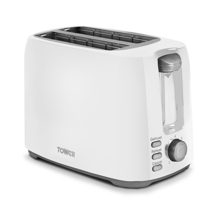 Tower Elements 2 Slice Toaster - 750w White