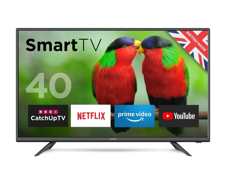 """Cello 40"""" HD Ready LED Smart TV with Wi-Fi and DVB-T2"""