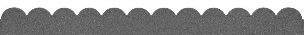 Primeur Flexi Curve Scallop Border - Grey