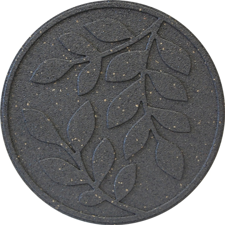 Primeur Reversible Stepping Stone - Leaves Grey