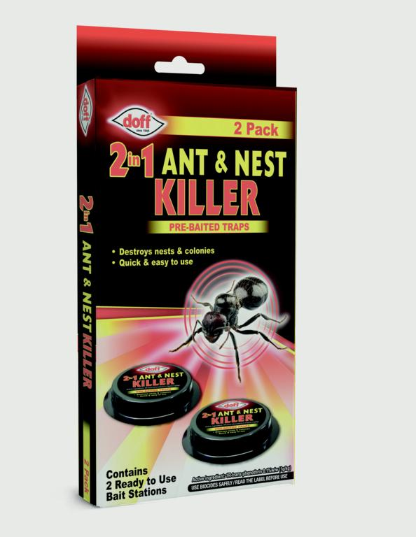 Doff 2 In 1 Ant & Nest Killer Bait Stations - Pack 2