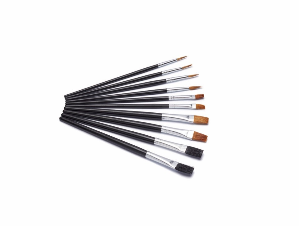 Harris Seriously Good Flat Artist Paint Brushes - Pack 10