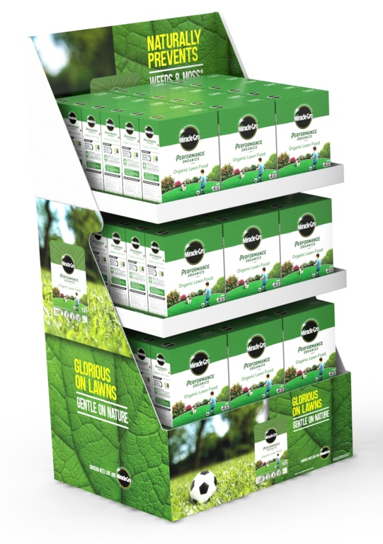 Miracle Gro Performance Organics Lawn Food - Display Unit of 60