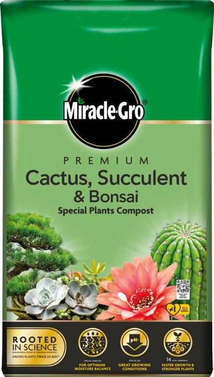 Miracle Gro Cactus, Succulent & Bonsai Compost - 6L