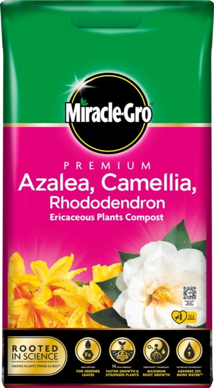 Miracle Gro Azalea, Camellia, Rhododendron Compost - 10L