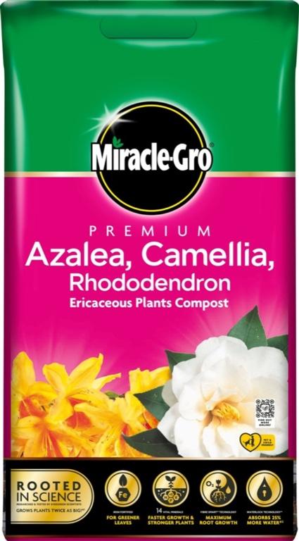 Miracle-Gro Azalea, Camellia, Rhododendron Compost - 10L