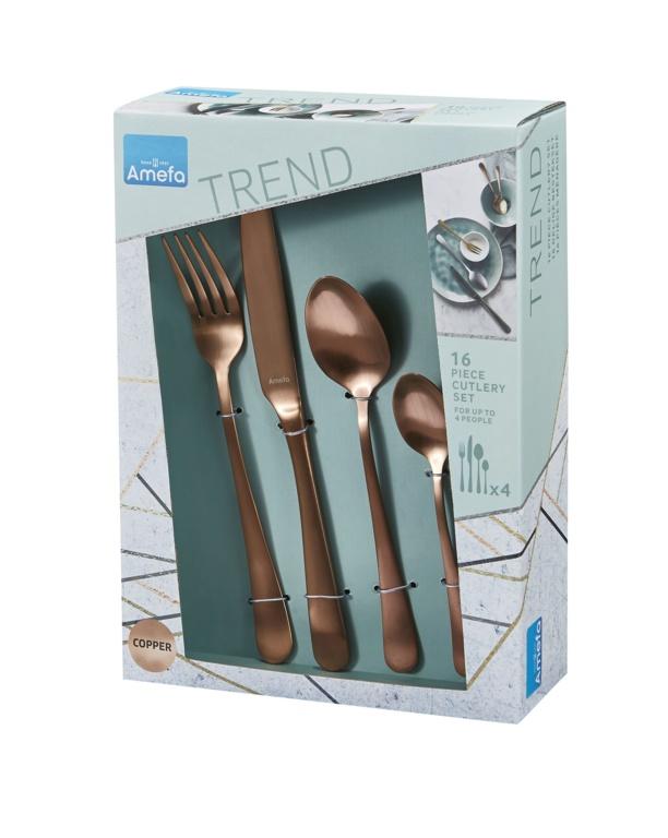 Amefa Copper Cutlery Set - 16 Piece