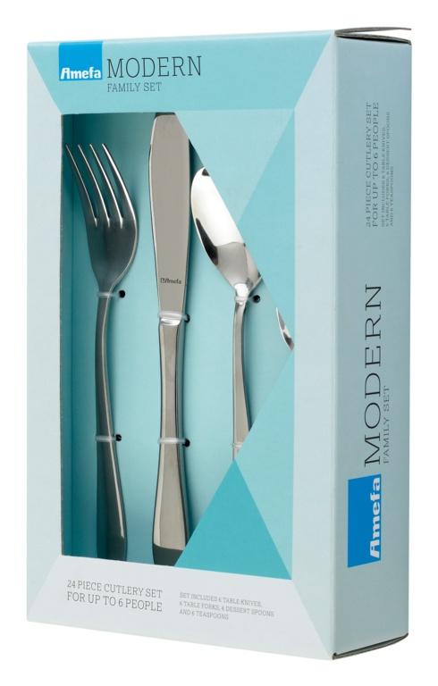 Amefa Modern Cutlery Box - 24 Piece Sure