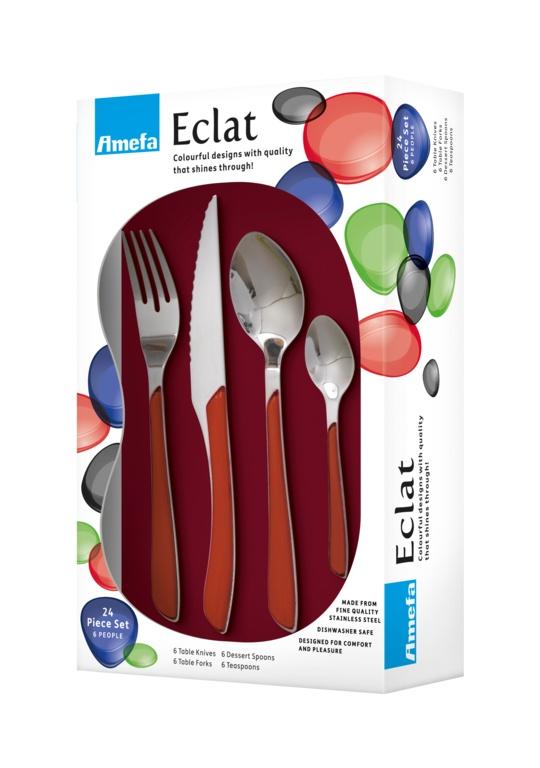 Amefa Eclat Cutlery Set - 24 Piece Red
