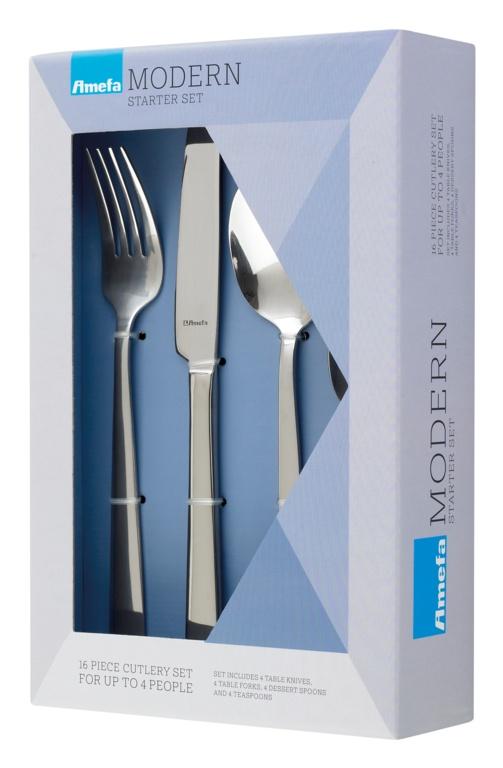 Amefa Modern Cutlery Set - 16 Piece Bliss