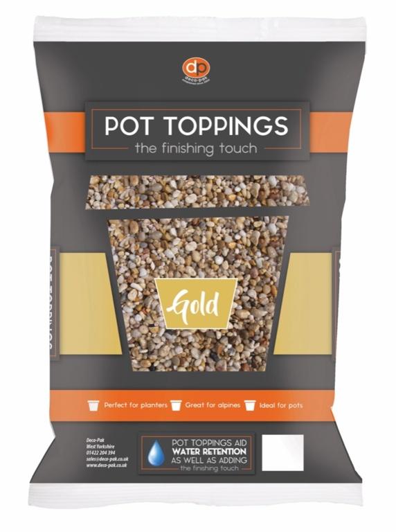 Deco-Pak Pot Toppings - 14mm Gold