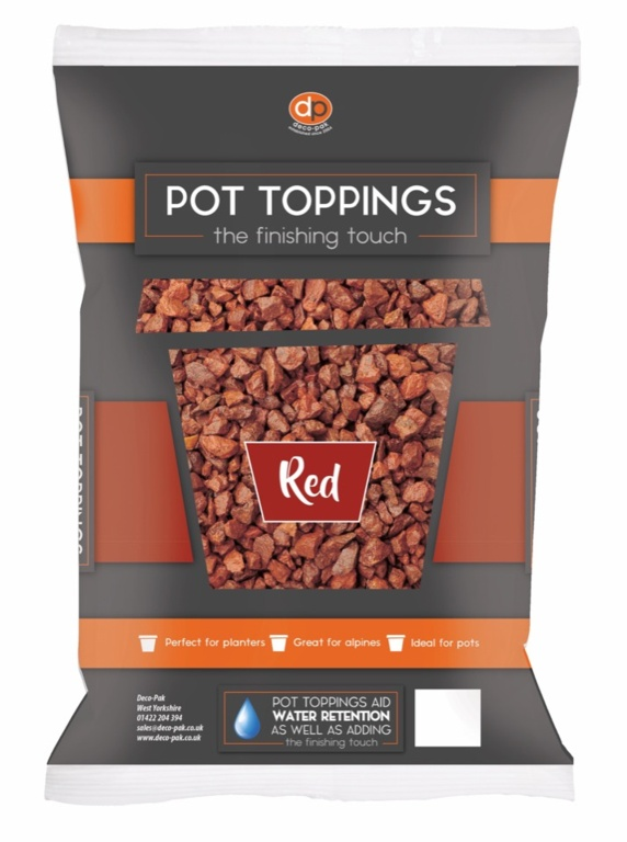 Deco-Pak Pot Toppings - 20mm Red