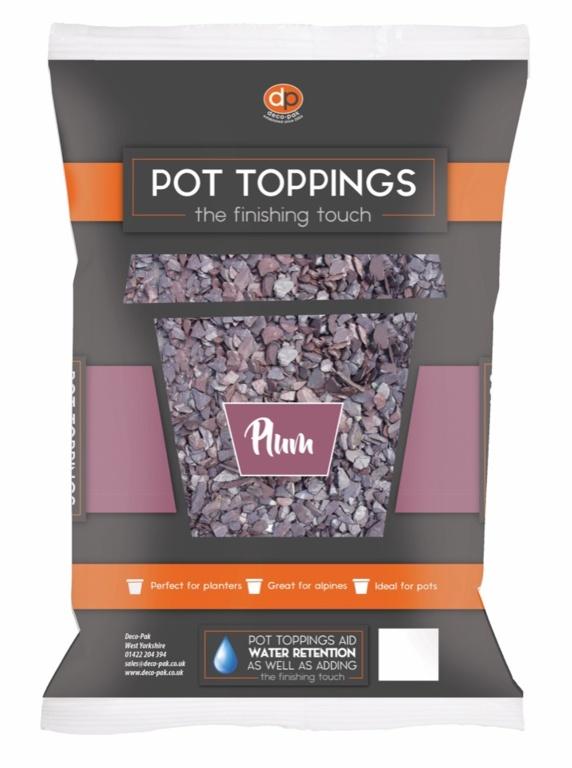 Deco-Pak Pot Toppings - 20mm Plum
