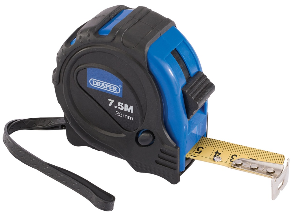 Draper Measuring Tape 25ftx25mm - 25ftx25mm