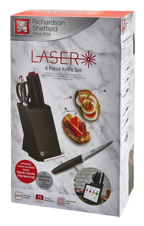 Amefa Laser Knife Block Set - 6 Piece