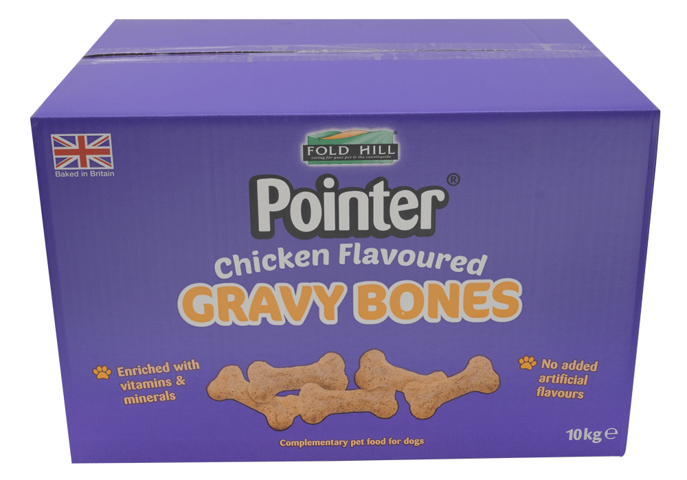 Fold Hill Foods Pointer Chicken Flavoured Gravy Bones - 10kg