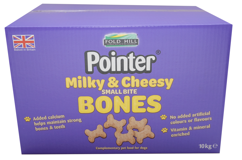 Fold Hill Foods Pointer Milky & Cheesey Bones - 10kg