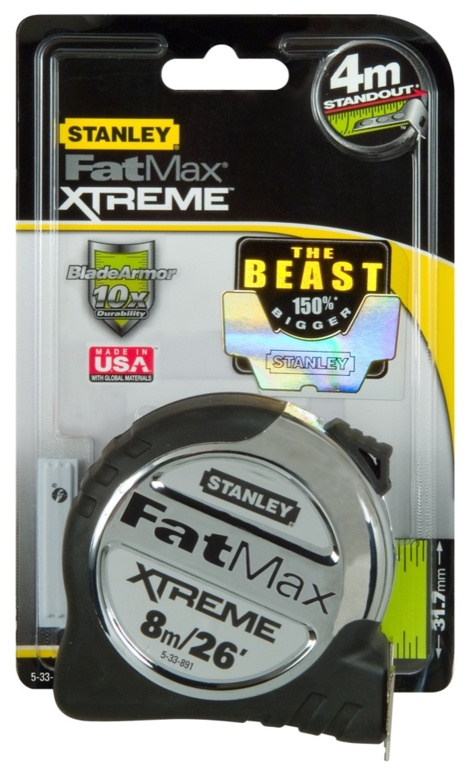 """Stanley FatMax Pro Tape - 8m/26"""""""