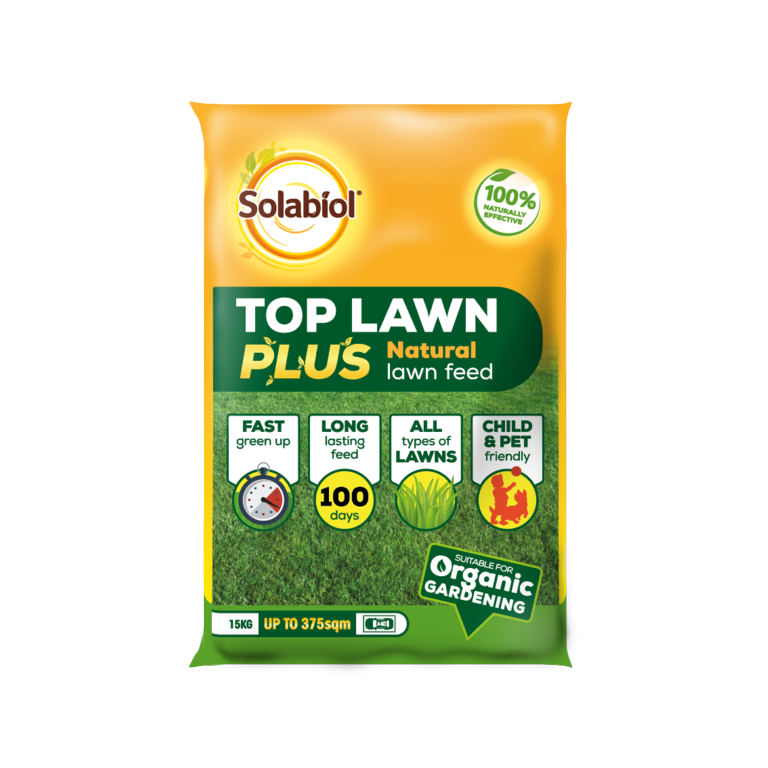 Solabiol Top Lawn Plus Natural Lawn Feed - 15kg 375sqm