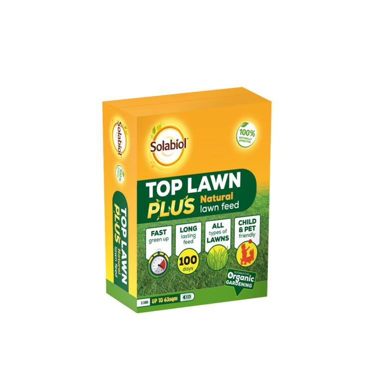 Solabiol Top Lawn Plus Natural Lawn Feed - 2.5kg 63sqm