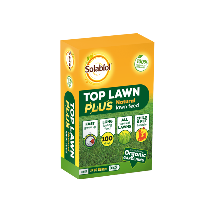 Solabiol Top Lawn Plus Natural Lawn Feed - 3.5kg 88sqm