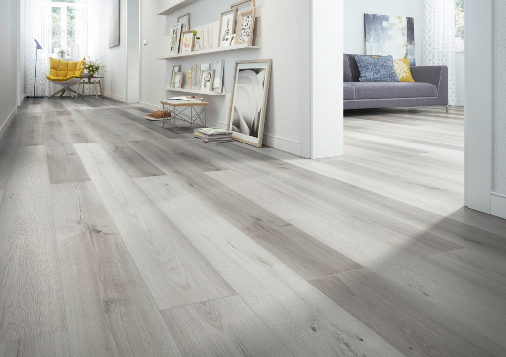 Classen Laminate Floor 1.996m2 - Light Grey Kinger 8mm