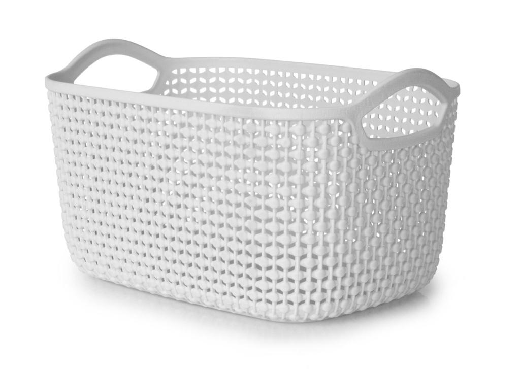 Blue Canyon Medium Storage Basket - Light Grey