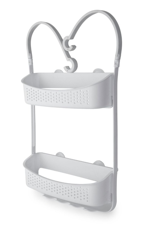 Blue Canyon Double Hanging Shower Caddy - White